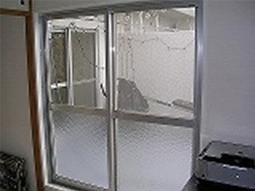 網入り単板ガラス